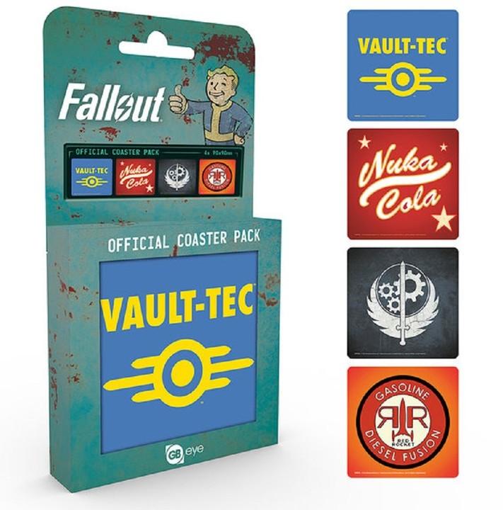 Fallout 4 - podtácky, mix