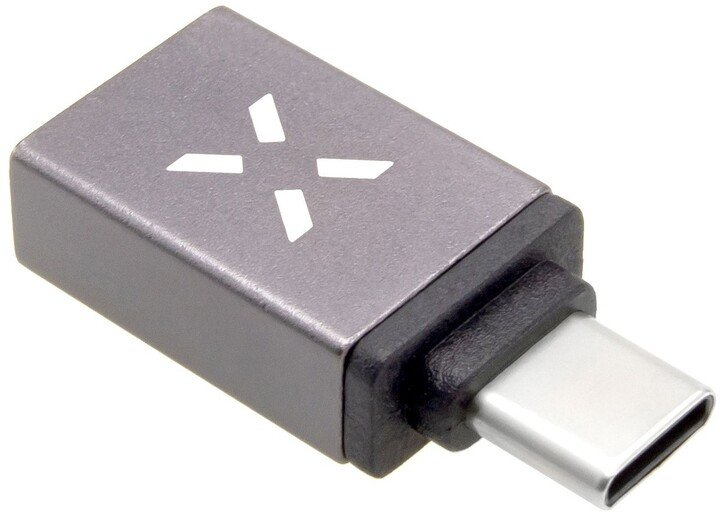 FIXED redukce USB-A 3.0 - USB-C, OTG, šedá