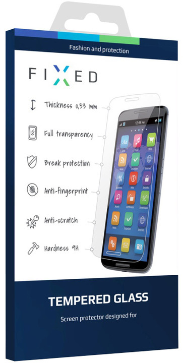 FIXED ochranné tvrzené sklo pro Microsoft Lumia 640 XL / 640 XL Dual SIM, 0.33 mm