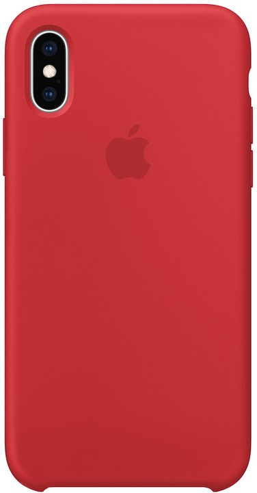 Apple silikonový kryt na iPhone XS (PRODUCT)RED, červená