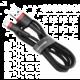 BASEUS kabel Cafule USB-A - Lightning, nabíjecí, datový, 2.4A, 3m, černá/červená