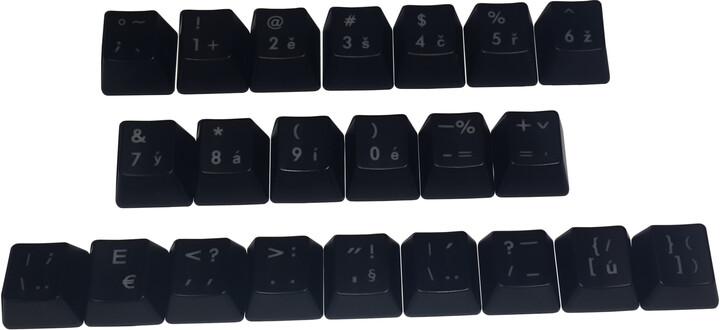 CoolerMaster vyměnitelné klávesy, Cherry MX, CZ layout