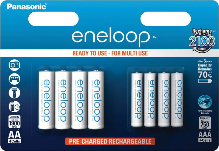 Panasonic Eneloop HR6 1900mAh + HR03 750mAh 8BP