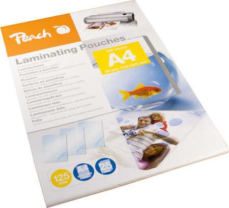 Peach laminovací fólie A4, 125mic, 25ks