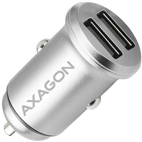 AXAGON mini SMART nabíječka do auta, 2x port 5V-2.4A + 2.4A, 24W