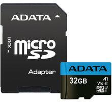 ADATA Micro SDHC Premier 32GB 85MB/s UHS-I A1 + SD adaptér - AUSDH32GUICL10A1-RA1