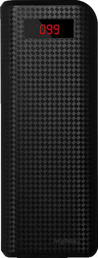 iMyMax Carbon Power Bank 20.000mAh, černá