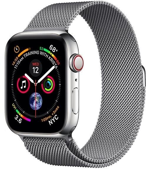 COTEetCI ocelový řemínek pro Apple Watch, 38/40mm, magnetický, šedá