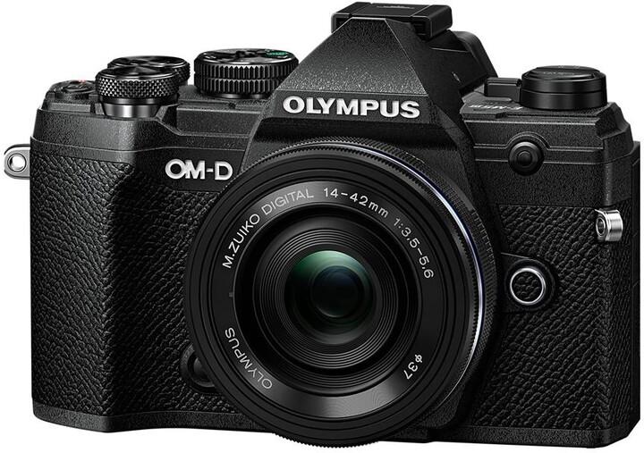 Olympus E-M5 Mark III + 14-42mm EZ, černá/černá