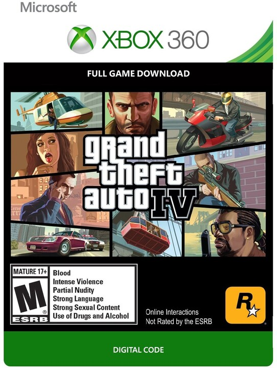 Grand Theft Auto IV (Xbox 360) - elektronicky