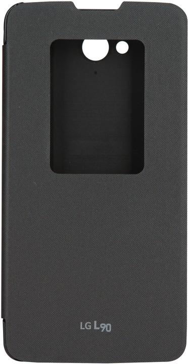 LG flipové pouzdro QuickWindow CCF-380 pro LG L90, černá