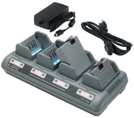 Zebra - 4-slotová nabíječka, pro QL série, RE série nebo P4T/RP4T, černá