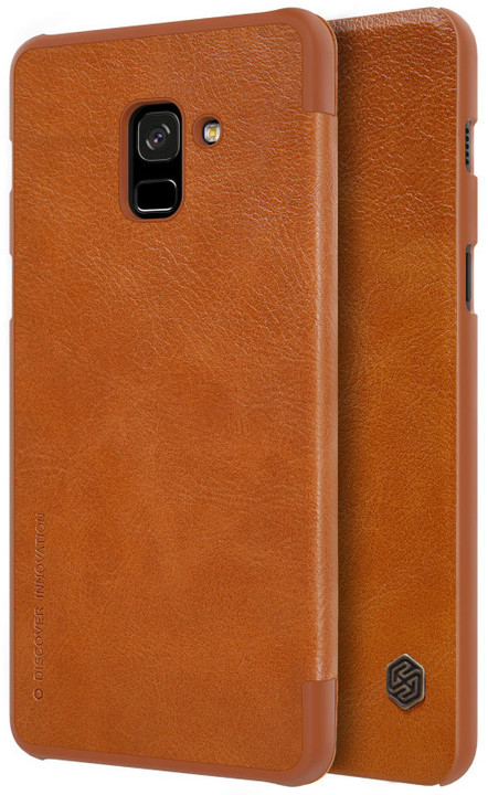 Nillkin Qin Book pouzdro pro Samsung A730 Galaxy A8 Plus 2018, Brown