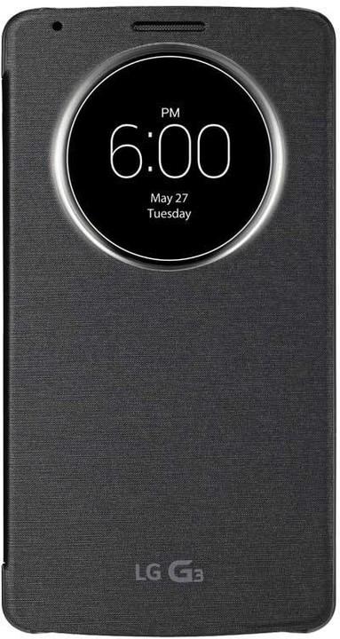 LG QUICKCIRCLE flipové pouzdro pro LG G3, černá