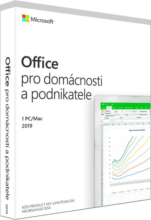 Microsoft Office 2019 pro domácnosti a podnikatele - pouze s PC