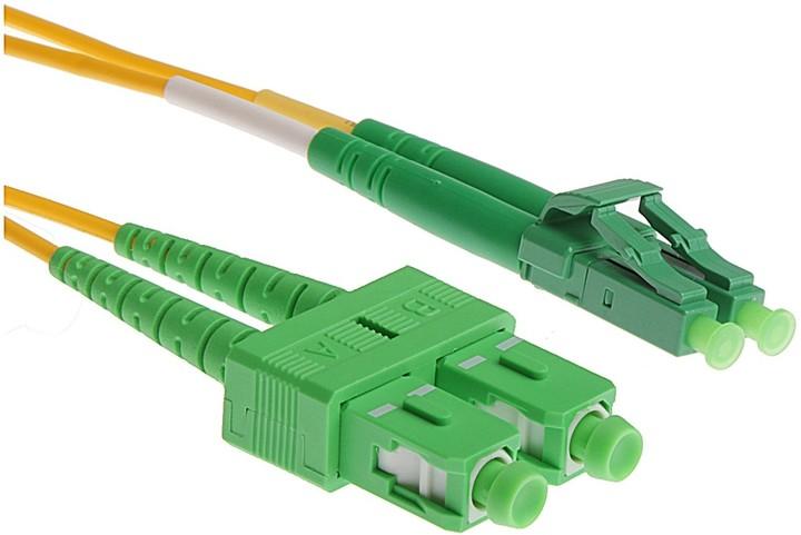 Masterlan optický patch cord, LCapc/SCapc, Duplex, Singlemode 9/125, 3m