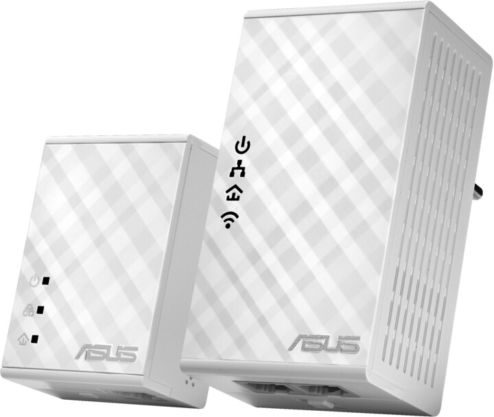 ASUS PL-N12, 300Mb/s Wi-Fi souprava HomePlug® AV500 Powerline Adapter Kit