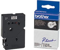 Brother TX-241, bílá / černá (18mm)