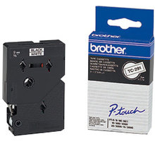 Brother TX-241, bílá / černá (18mm) - TX241