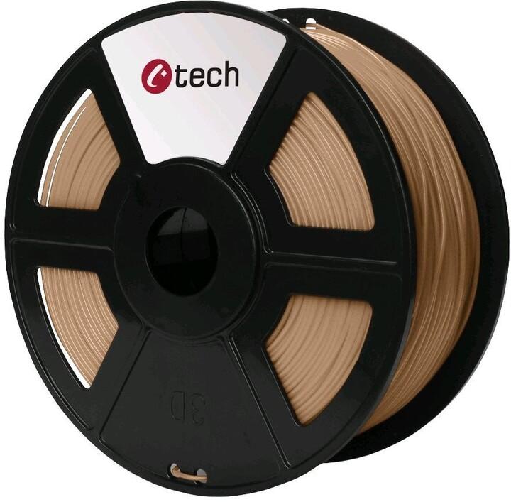 C-TECH tisková struna (filament), PLA, 1,75mm, 1kg, dřevěná