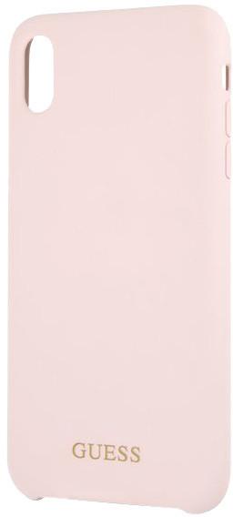 GUESS Silicone Gold Logo pouzdro pro iPhone XS Max, světle růžová
