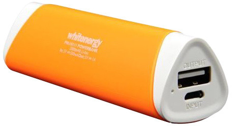 Whitenergy Power Bank 2000mAh 1A Li-Ion, oranžová