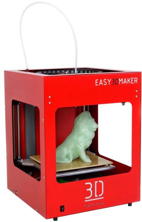 3D Factories EasyMaker, 3D tiskárna, červená 0,3 mm