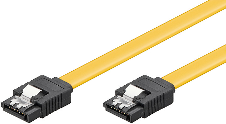 PremiumCord kabel SATA 3.0 kov.západka, 0,2m