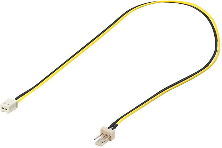 PremiumCord kabel napájecí pro ventilátor z 2 pinového FAN na 3 pinový FAN konektor