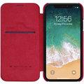 Nillkin Qin Book pouzdro pro iPhone Xr, červený