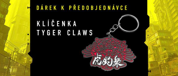 Klíčenka Tyger Claws k Cyberpunk v hodnotě 199 Kč