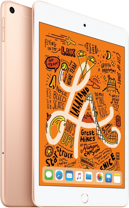 Apple iPad Mini, 64GB, Wi-Fi + Cellular, Gold, 2019