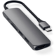 Satechi Type-C Slim Multimedia Adaptér V2, šedá