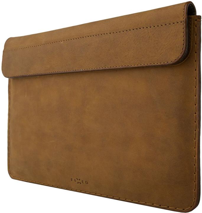 """FIXED kožené pouzdro Oxford pro Apple iPad o úhlopříčce 9.7"""", hnědá"""
