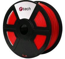 C-TECH tisková struna (filament), PETG, 1,75mm, 1kg, červená - 3DF-PETG1.75-R