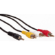 AQ KVJ015, 3,5mm AV jack/3 RCA (cinch) - audio video kabel, 1,5m