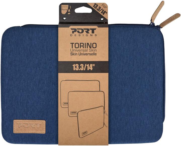 "Port Designs TORINO pouzdro na 13,3/14"", modrá"