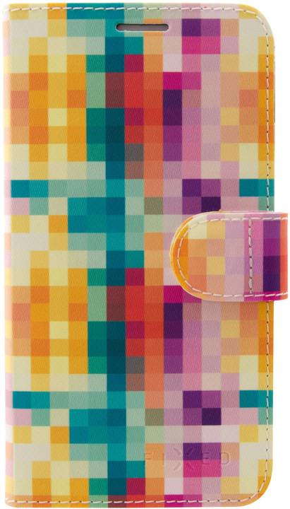 FIXED FIT pouzdro typu kniha pro Samsung Galaxy J6+, motiv Dice