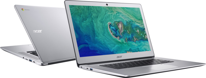 Acer Chromebook 15 (CB515-1H-C9FU), stříbrná