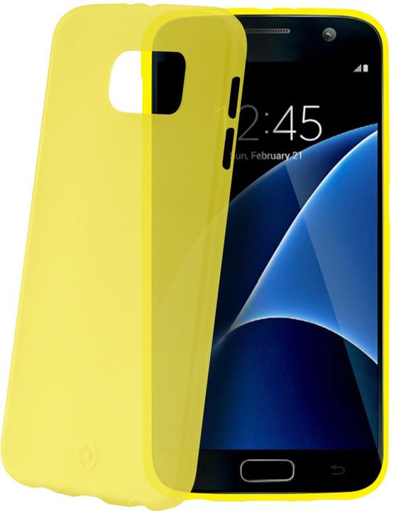 CELLY Frost pouzdro pro Samsung Galaxy S7, 0,29 mm, žlutá