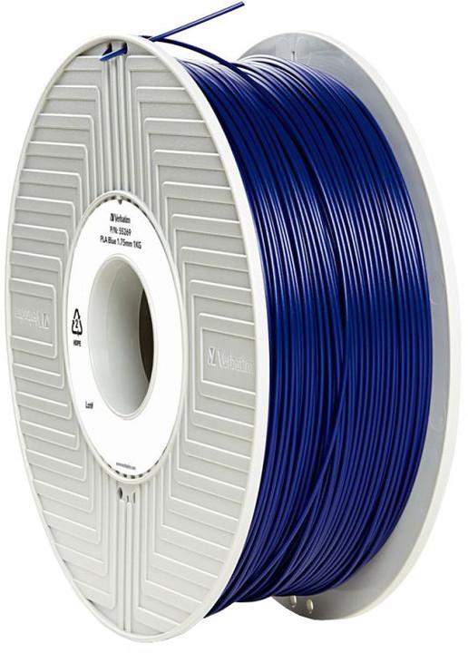 Verbatim tisková struna (filament), PLA, 1,75mm, 1kg, modrá