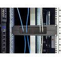 """Triton průchozí panel RAB-ZP-X02-A3, 19"""", 2U, 350x55mm, horizontálně rozdělený, černý"""