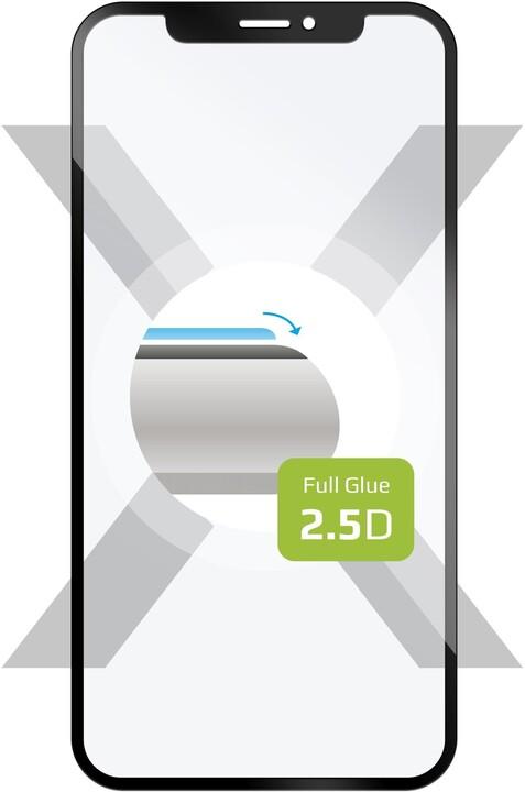 FIXED ochranné tvrzené sklo Full-Cover pro Sony Xperia 5, lepení přes celý displej, černé