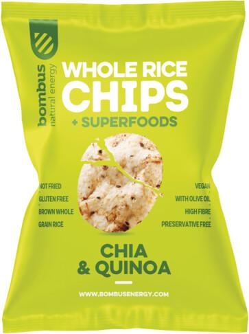 Bombus rýžové chipsy, chia a quinoa, 60g