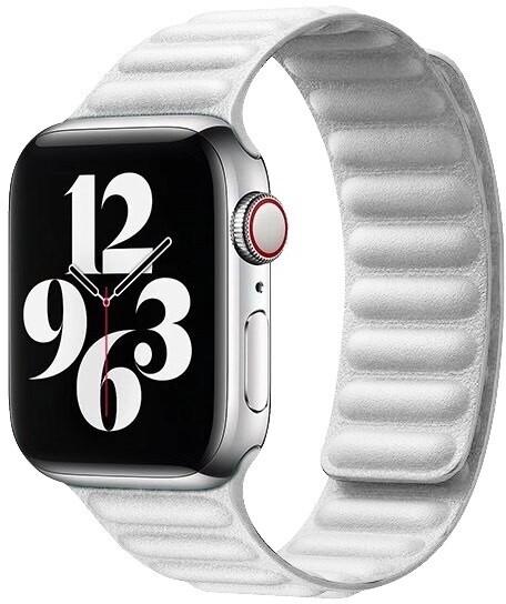 COTEetCI kožený řemínek pro Apple Watch, 38/40mm, bílá