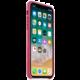 Apple kožený kryt na iPhone X, fuchsiová