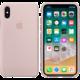 Apple silikonový kryt na iPhone X, pískově růžová