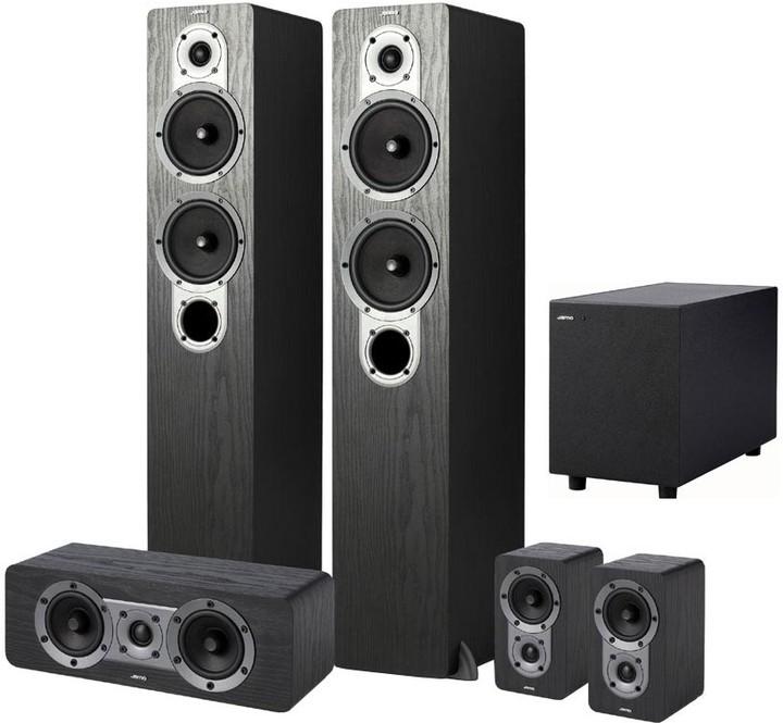 Jamo S 426 HCS 5, sestava, černá