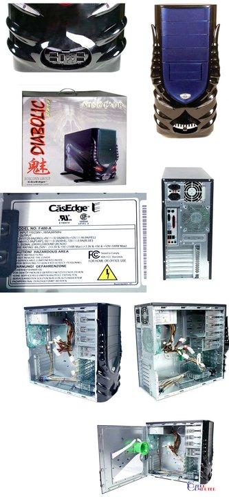 CasEdge Diabolic GamingTower TH202-NP-BL modrá
