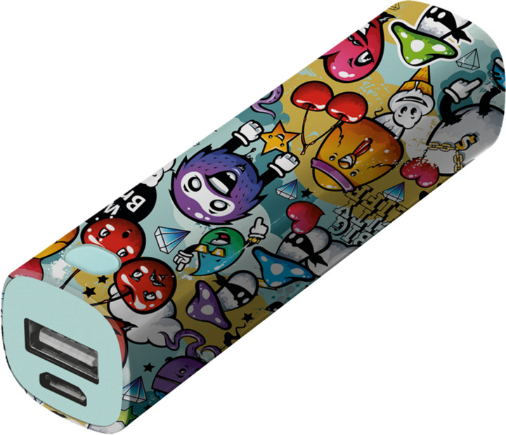 Trust Tag PowerStick 2600mAh zdroj, graffiti objects
